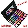 O Mais Novo Conjunto de Maquiagem Profissional 78 Full Color Eyeshadow Lip Gloss Blush Palette Set Kit Sombra de Olho Corretivo Cosméticos