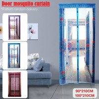 Magnetic Stripe Summer Anti-Mosquito Curtains Encryption Mosquito Net With Pattern On The Door Magnets Drop Shipping