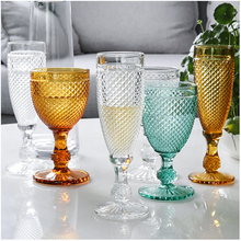 Goblet Wine-Cup Champagne Glass Party-Juice Wedding European Relief Engraved-Designs