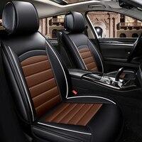 מושב מכונית מכסה חומר עור Pu יוקרה אביזרי פנים מכונית כיסוי מושב מכונית שחור האוניברסלי קפה