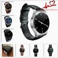 Moda gw01 smart watch smartwatch bluetooth 4.0 monitor del ritmo cardíaco para Android iOS 4.3 7 IPS Pantalla Redonda Agua de La Vida resistente
