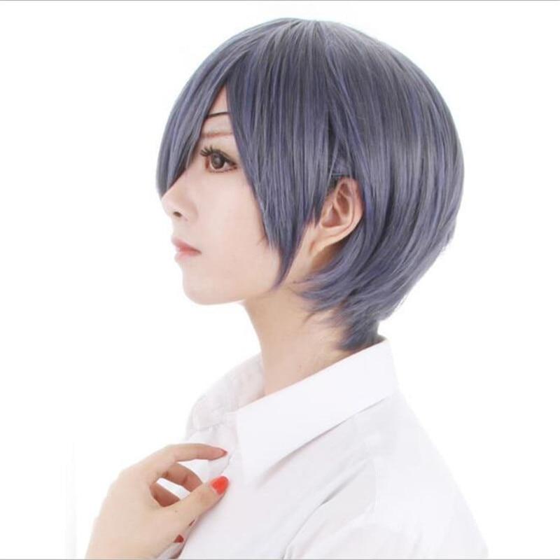 BOOCRE Anime Black Butler Cosplay Ciel Phantomhive Wig Costumes Accessories Headwear Grey Short Hair