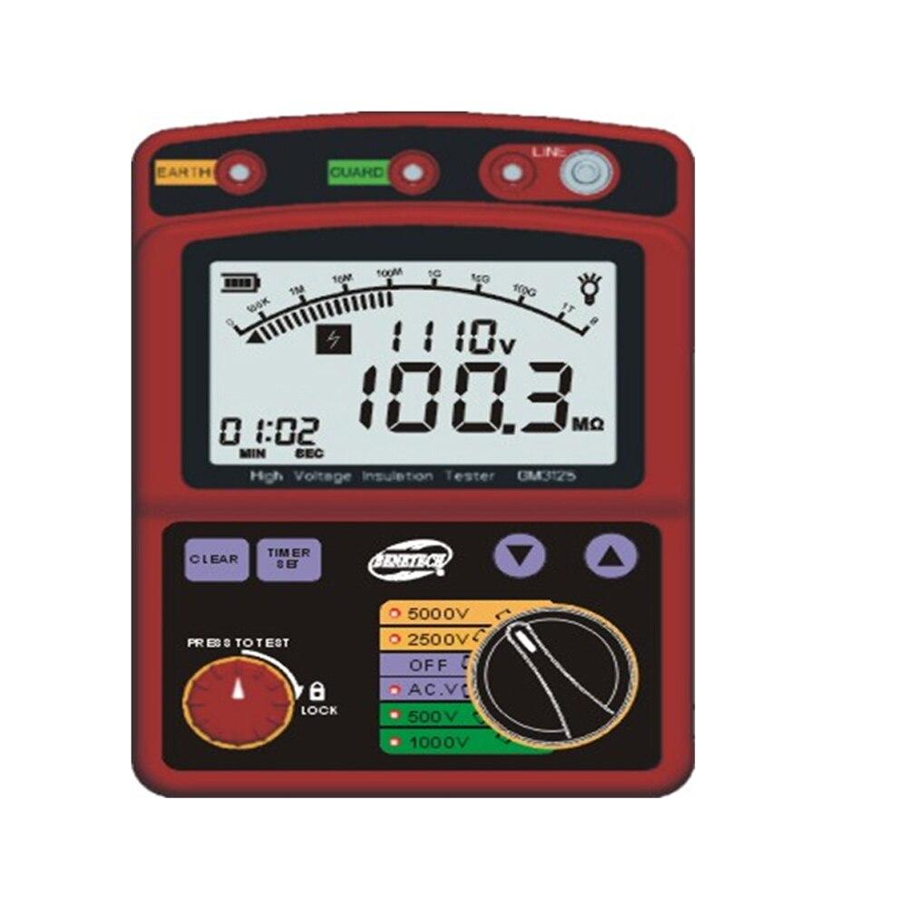 Hohe Spannung 5KV Isolierung Widerstand Tester Meter Megohmmeter 1 T Ohm DAR PI GM3125-in Widerstands-Messgerät aus Werkzeug bei AliExpress - 11.11_Doppel-11Tag der Singles 1