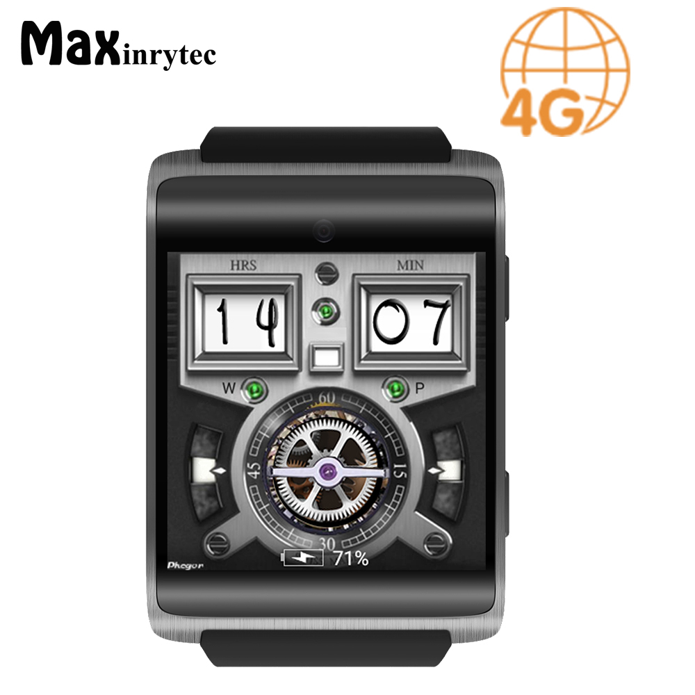 Maxinrytec 4G Smart Watch DM18 Android 6.0 MTK6737M 1GB/ 16GB Bluetooth Smartwatch Heart Rate Monitor for Business Women Men