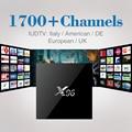 X96 S905X Android 6.0 Caixa De TV Amlogic 4 K 2 GB 16 GB HDMI 2.0A Smart TV Media Player com 1700 HD Canais de IPTV Livre Europa Árabe