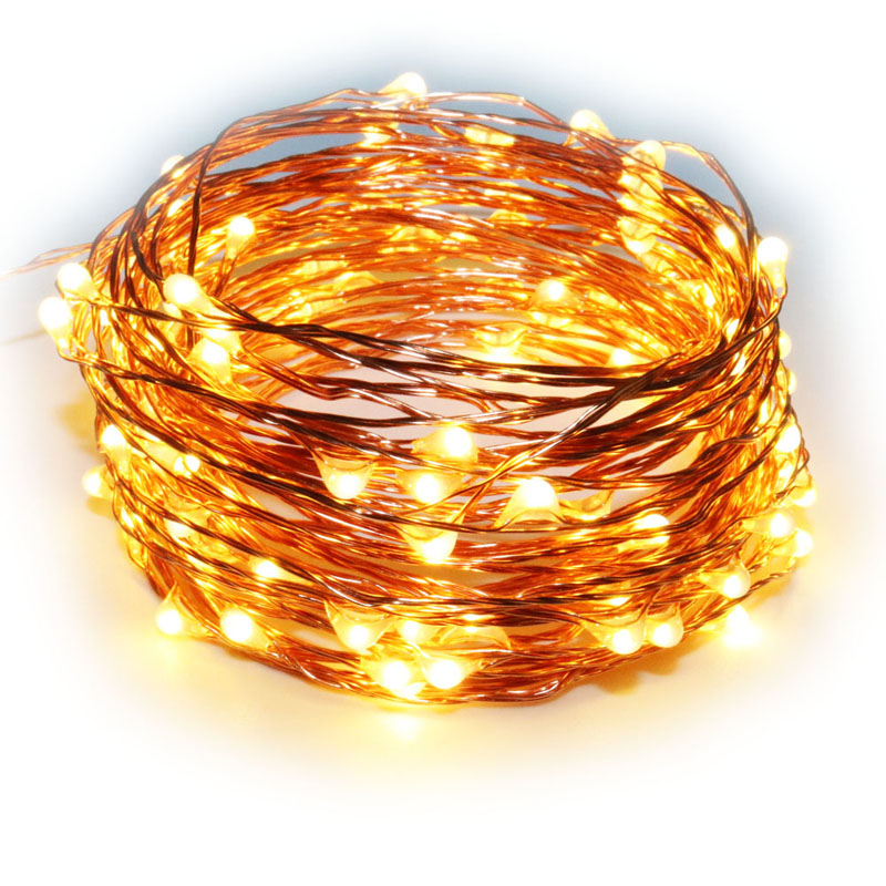 33Ft 165Ft Copper Wire string lights LED Fairy Lights for Outdoor Christmas Wedding Party Decor CE