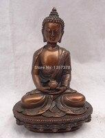 shitou 00483 Chinese Pure Bronze Shakyamuni Buddha Joss Tibet Lotus Sakyamuni Bowl Statue