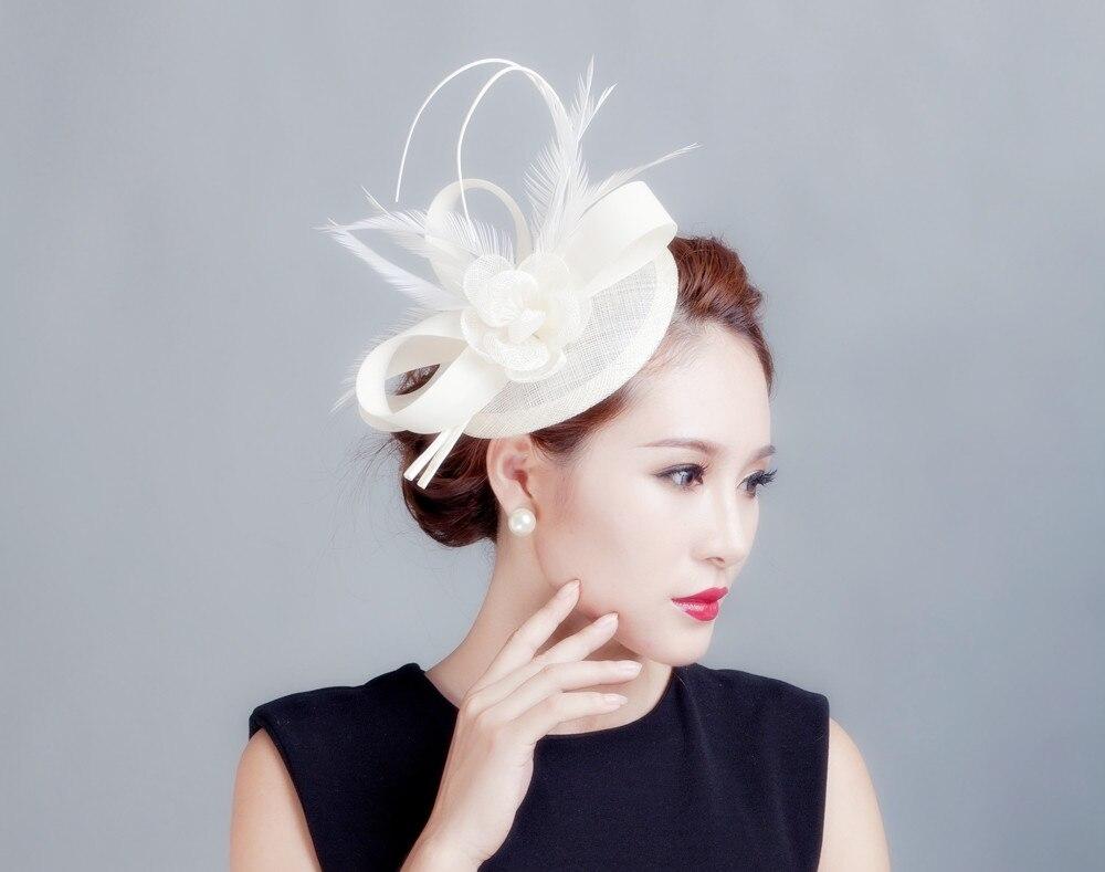 ad4f27fab Mini Top Hat Hair Clip Small Wedding Hats And Fascinators Chapeu ...