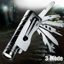 1200Lum Q5 LED Outdoor flashlight rechargeable camping knife torch survival multifunctional jackknife flash lamp