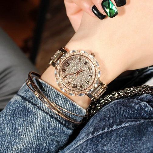 Romiešu ciparu sievietes dimanta kvarca pulkstenis slavens zīmola elegants kleita pulksteņi dāmas rhinestone rokas pulksteņi relogios femininos