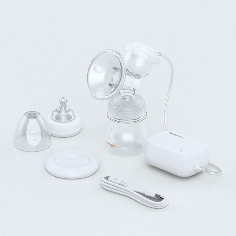 Cmbear Electric Baby Breast Pump with Milk Bottle for Breast Feeding USB Chargeable Battery