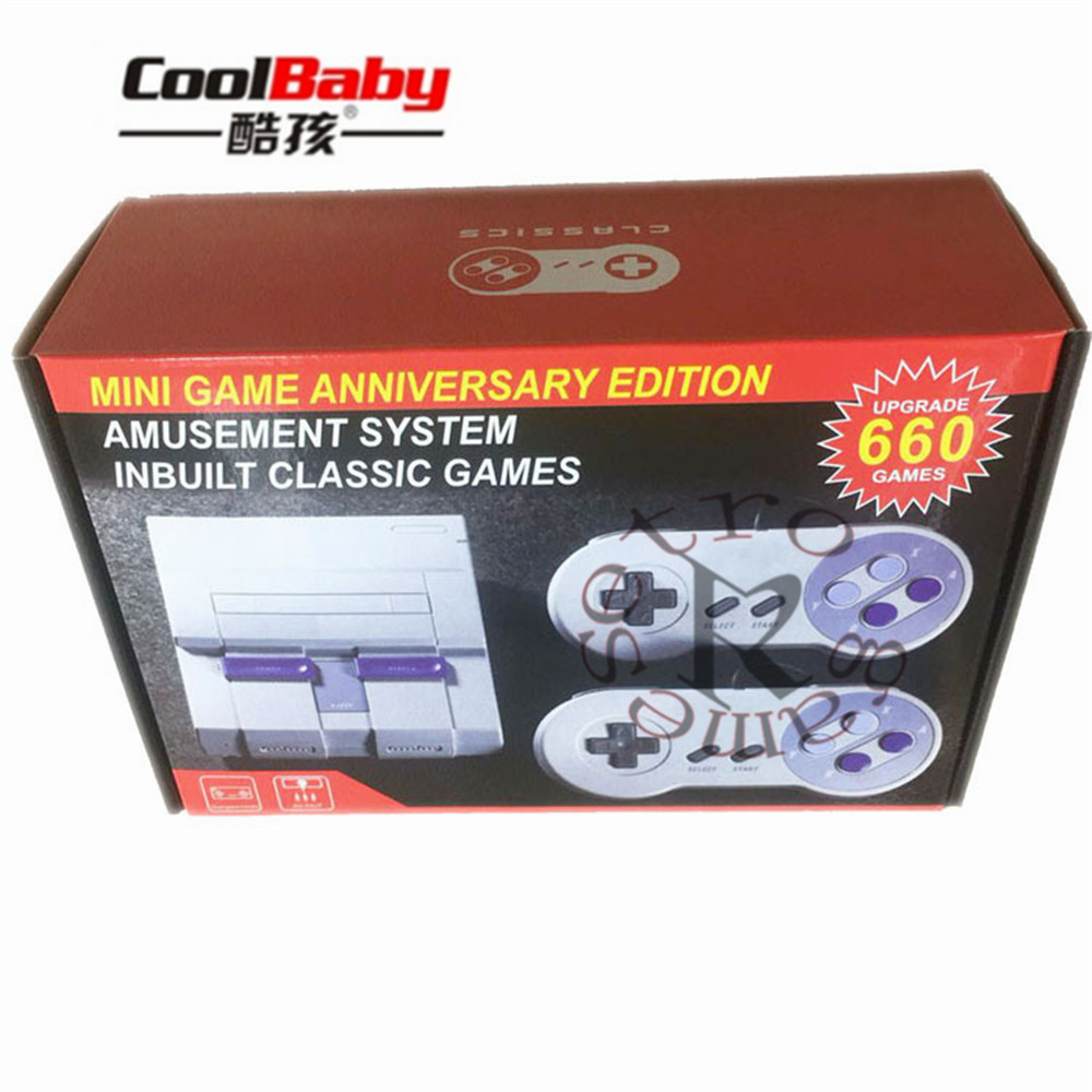 Family Retro Classic Game Console with 2 Controller 8 Bit 660 games AV-USB Interface Built-In 660 Games Handheld Game Player