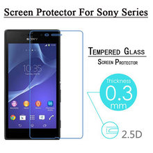 EKDME Tempered Glass For SONY Xperia Z5 Compact Z4 Z3 Z2 Z1 Z Mini M4 Aqua M5 E4G E1 C4 C3 T3 T2 XC Screen Protector Film(China)