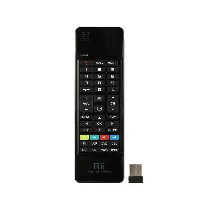 Rii i13 K13 russe Mini clavier sans fil mouche Air souris Combos Mircophone haut-parleur IR apprentissage à distance pour PC Smart TV Box