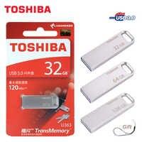 TOSHIBA USB Flash Drive USB3.0 U363 32 GB usb stick 64 gb chiavetta 128 gb usb de Metal a prueba de Pen Drive dispositivo de almacenamiento de pendriv