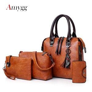 Image 1 - Luxe femmes sacs à main 4 pièces ensemble femmes Composite sac gland pendentif fourre tout sacs pour femmes grande capacité sac à bandoulière