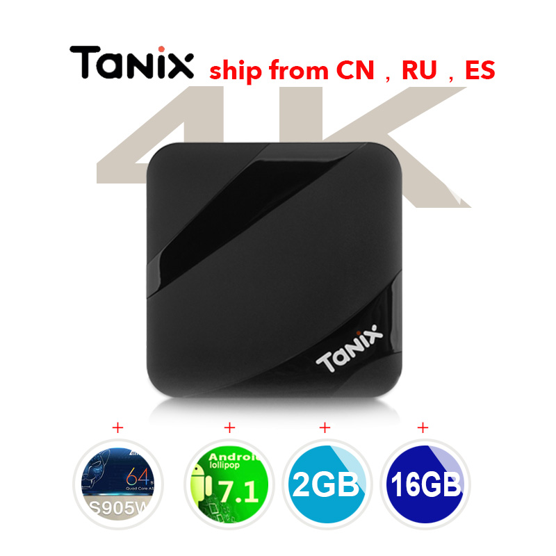 TX3 Max TV Box Android 7.1 Amlogic S905W 2GB RAM 16GB ROM Bluetooth Set Top Box HDMI H.265 4K Media Player PK TX3 Mini