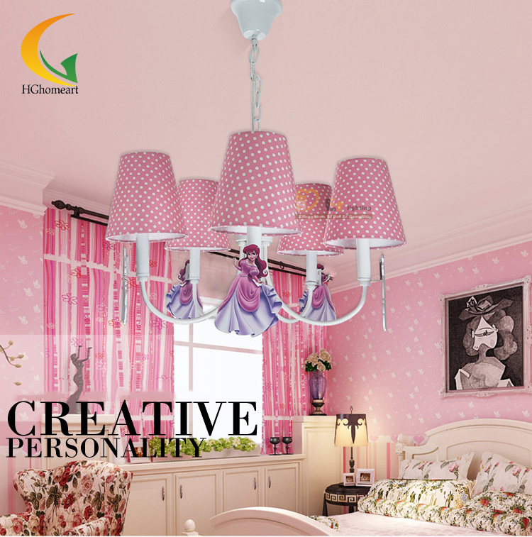 cute pink children Led chandeliers home lighting girl bedroom chandelier cartoon children room lamps
