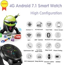 2019 Smart Watch Android 7.1 3GB+32GB IP67 waterproof WIFI GPS 2MP Camera 1.6 Inch IPS google map 4G Smartwatch Men PK kw98 Z28