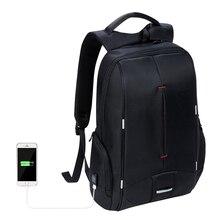Kalidi 15 дюймов Водонепроницаемый Для мужчин рюкзак для ноутбука MacBook компьютер рюкзак для путешествий школьная сумка 15.6 дюймов холст рюкзак для Для мужчин
