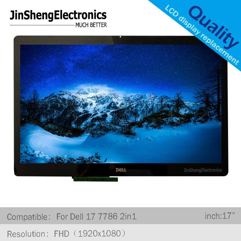 Pantalla LCD de 17,3 pulgadas para Dell Inspiron 7786 2in1 led digitalizador táctil + pantalla LCD montaje completo LP173WF4 (SP) (F6) 3