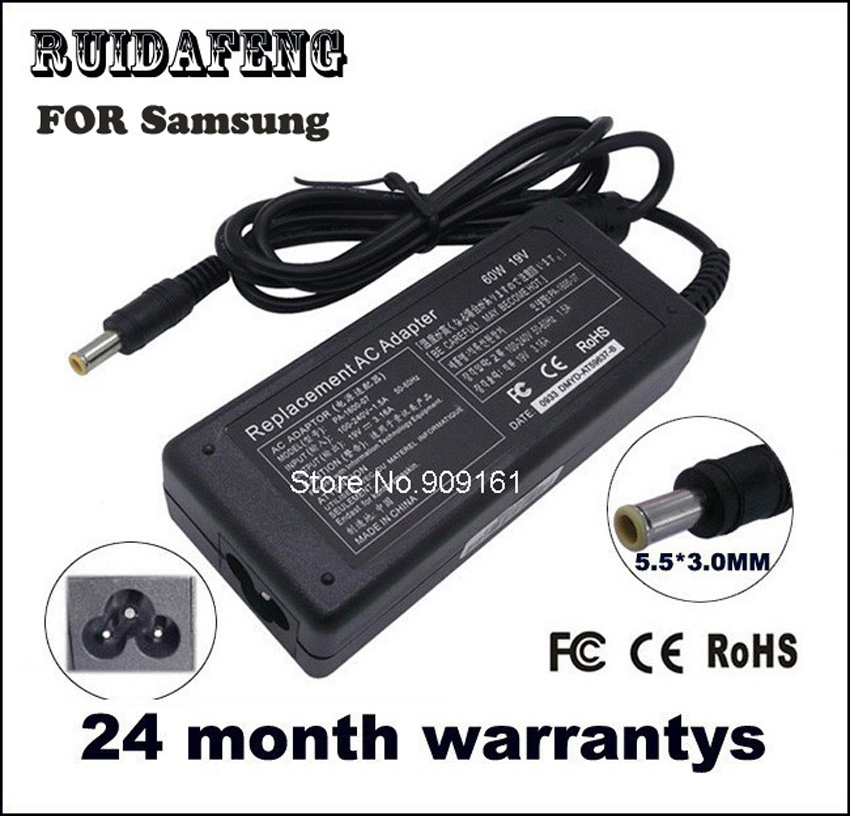 19V 3.16A 5.5 * 3.0MM 60 W hálózati adapter Samsung R429 R430 R428 - Laptop kiegészítők