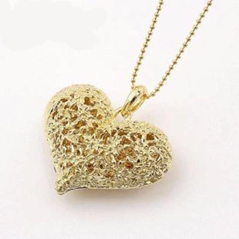 оптовая продажа-2016 новое прибытие ядер моды полые цветы форме сердца колон и ожерелье для женщин изящных ювелирных изделий n98