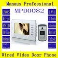 High Quality Wired Magnetic Lock RFID Video door phone,Smart Home 7 inch Screen Display 1V1 Video Intercom Phone D82b