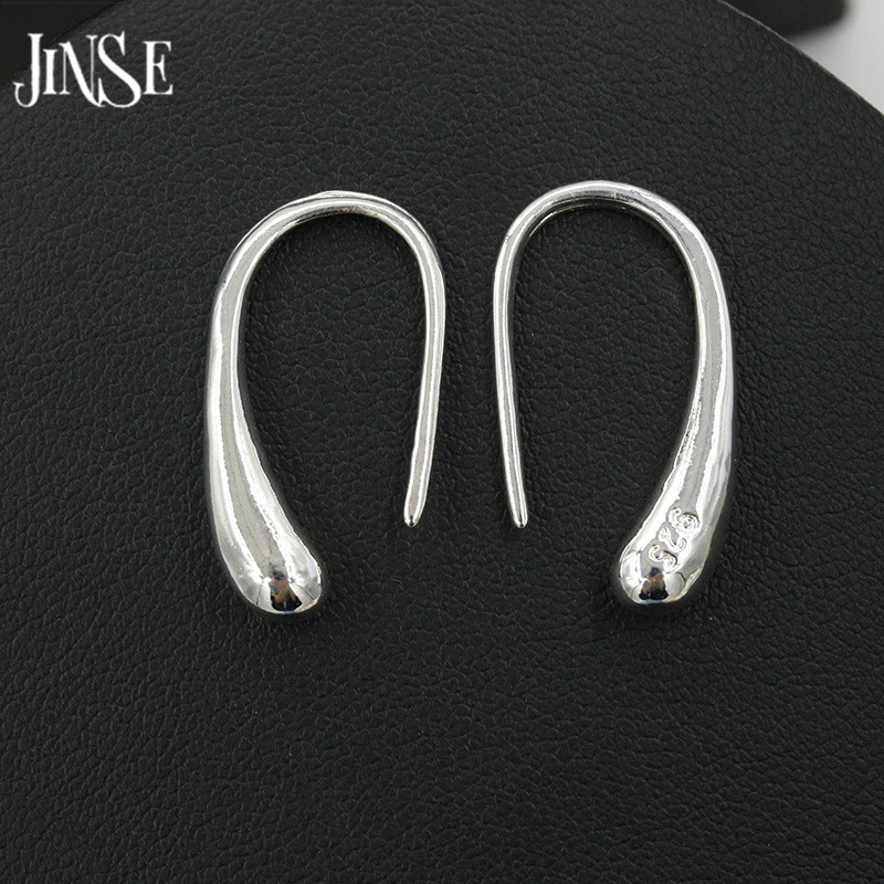 JINSE First Class Product 925 Sterling Silver Water Drop Earring Romantic Style Women Geometric Jewelry Gift Noble Generous in Drop Earrings from Jewelry Accessories