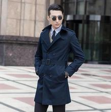 купить Business 2016 spring autumn double breasted mens trench coats man long coat men clothes slim fit overcoat men plus size S - 9XL по цене 5543.58 рублей