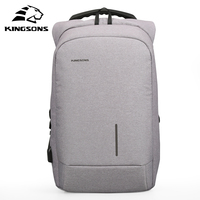 Kingsons Anti Theft External USB Charging Laptop Backpack Waterproof For Notebook Bag Business Travel For Men