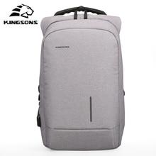 Kingsons Anti-theft Zewnętrzne USB Ładowania Laptopa Plecak Wodoodporny do Komputera Notebook Bag Podróży Biznesowych dla Mężczyzn i Kobiet