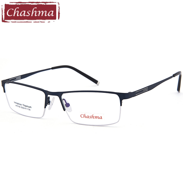 b7d97ea9cf Chashma Brand New Fashion Eye Glasses Alloy Quality Prescription Frame Men  Half Rim Optical Frames for