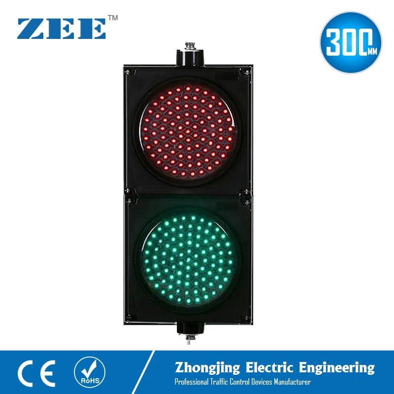 12inches 300mm LED Red Green Traffic Signal Lights 220V 12Vdc 24Vdc LED Traffic Signs