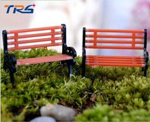 1/75 Model trains layout  Park Garden Bench Landscape Scenery abs plastic park chairs
