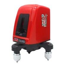 ACUANGLE A8826D çapraz kırmızı lazer seviyesi 360 derece kendini tesviye 1V1H 2 satır 1 nokta yatay ve dikey Nivel lazer çantası