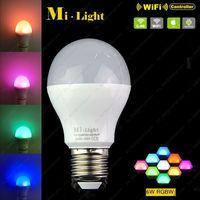 AC85 265V 2 4G Mi Light E27 6W RGBW Or RGBWW LED Smart Bulb Plastic Housing