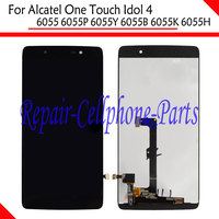 Black Full LCD DIsplay Touch Screen Digitizer Assembly For Alcatel One Touch Idol 4 LTE 6055