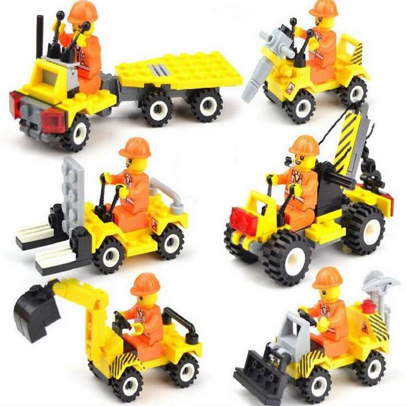 Jie Star City Construction Engineering Truck Teams Model Building Blocks Enlighten Figure Toys For Children Compatible Legoe 20 sets simcity human model building blocks assemble classic enlighten construction figure toys for children compatible legoe
