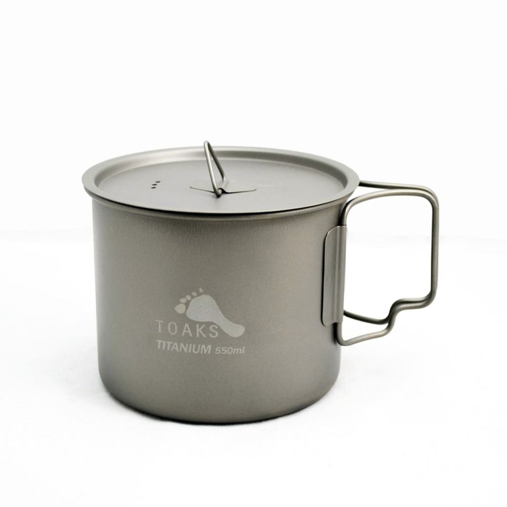 TOAKS 3in1 550ml Ultralight Titanium Pot Outdoor Camping Titanium Bowl Titanium Cup POT-550 (NEW VERSION)