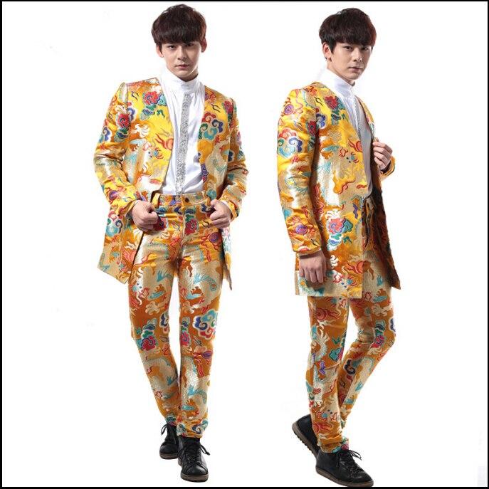 HOT 2017 New Fashion Vintage Chinese Style Suit Wedding