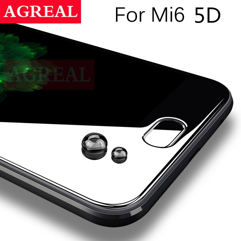 5D Cover Gehärtetem Glas für Xiaomi Mi6 9 H 0,26 MM 4D Gebogene rand Displayschutzfolie Für Xiaomi Mi 6 für Xiaomi 6 3D glas