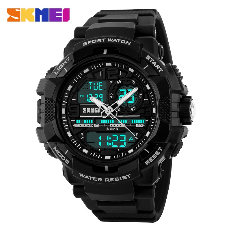 Big Dial 2017 SKMEI Men's Digital Watch S SHOCK Military Clock Men Watch Water Resistant Date Calendar LED Sports Watches Men np shock resistant waterproof watch men 2016 new nylon sport watches ultra slim watchcase men s fashion clock large white dial