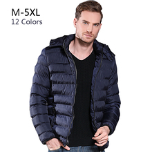 Winter Jacket Men 5XL Plus Size Coat Thick Warm Hooded Windbreaker Quality Cotton-Padded Parkas Mens Brand Overcoat 2019 COTUDI