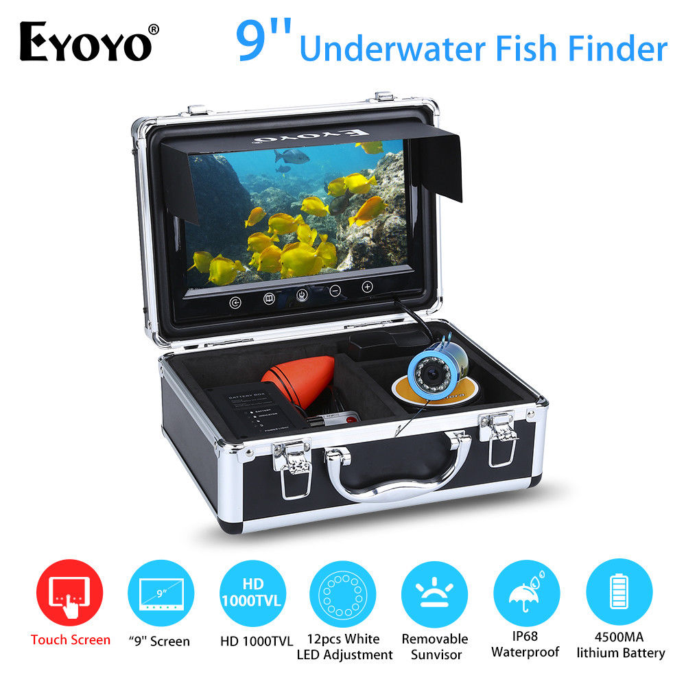 EYOYO 9 50M Touch Screen High resolution White LED Adjustment Ocean Sea River Lake Boat Fishing Camera Fishfinder Night Vision vision r40 touch page 9