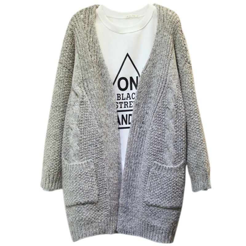 Hot Sell Winter Warm Women Sweater Cardigan Sleeved Womens Cardigan Long Sleeved Loose C ...