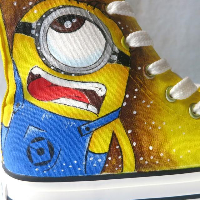 Despicable Me Minions High Top Casual Graffiti Sneakers