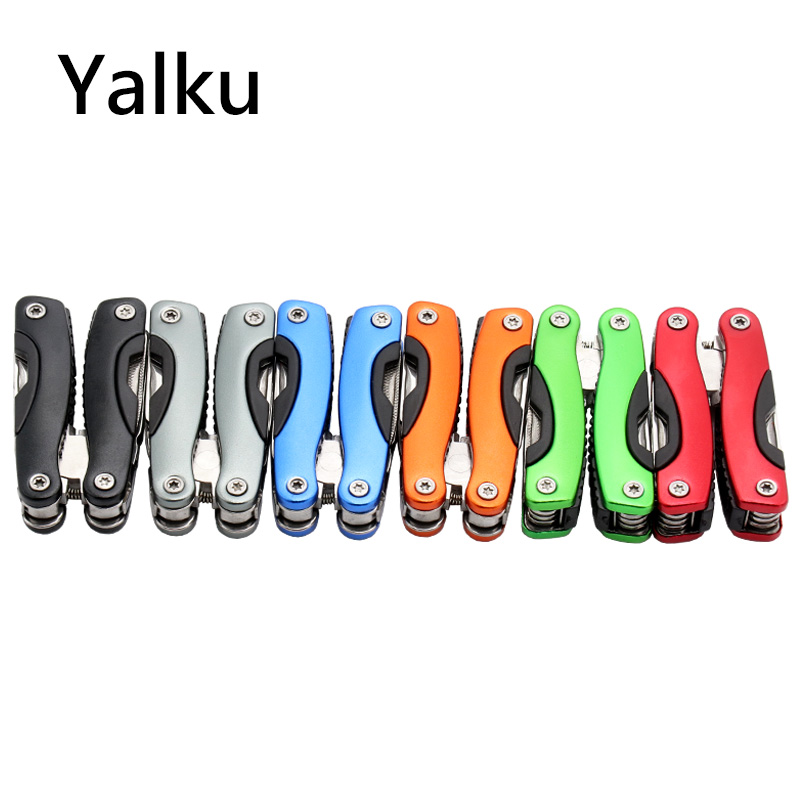 Yalku Outdoor Multitool Pliers Serrated Knife Jaw Hand Tools + Screwdriver + Pliers + Knife Multitool Knife Set Survival Gear