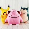 35-40cm Poke Doll Clefairy Pikachu Snorlax Plush Toy Stuffed Toys Dolls Children Gift Big Size