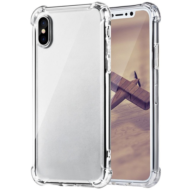 For iPhone X Case TPU Slim Protective Shockproof Cases Cover for Apple iPhone 10 8 (7)